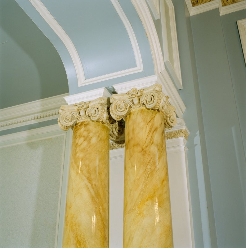 Interior, 1st floor, W dressing-room, detail of column capitals