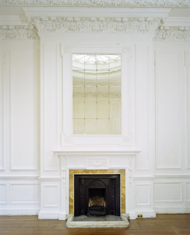 Interior, 1st floor, E dressing-room, view of fireplace with mirror above