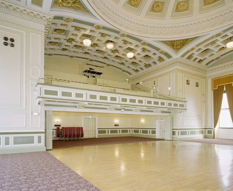 Interior, 1st floor, music hall, view from SW