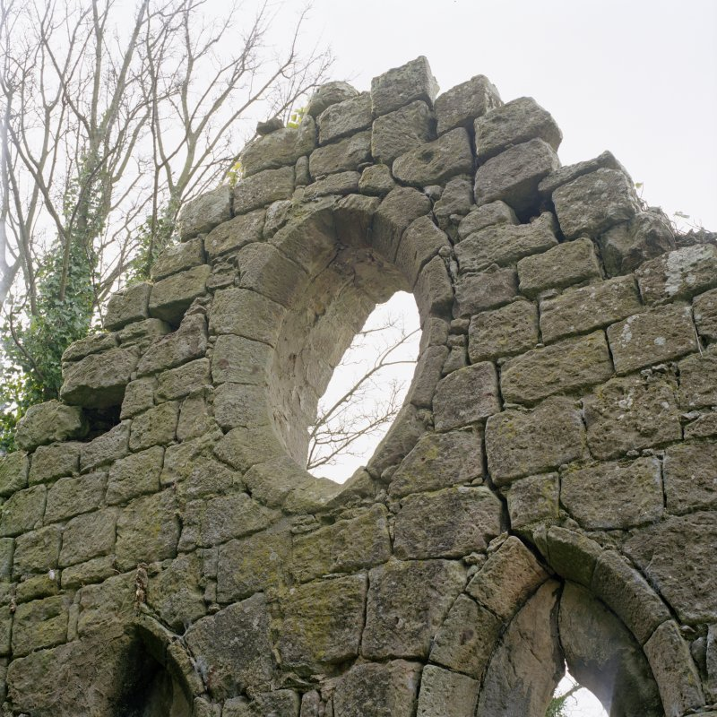 Detail of vesica window in E gable.
