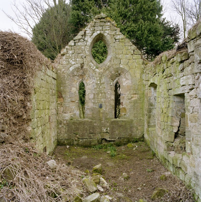 General view of interior showing E gable from W.
