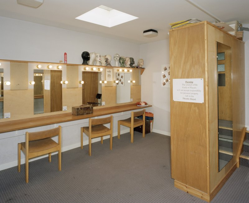 Interior. South dressing-room, view of make-up area