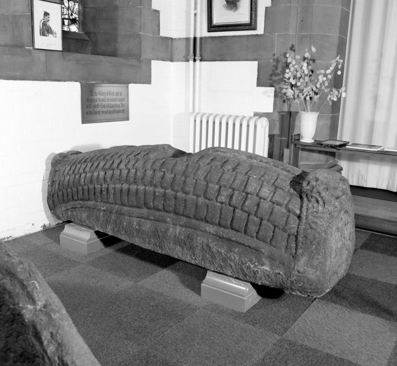 Hogback. Carved stone.