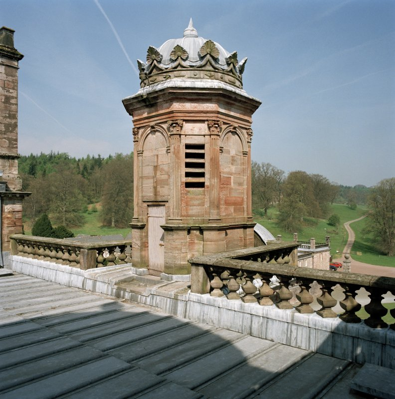 Clock tower, view from roof of castle to South East.