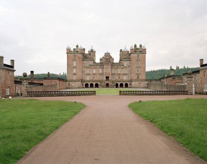 View of castle from main drive to North.