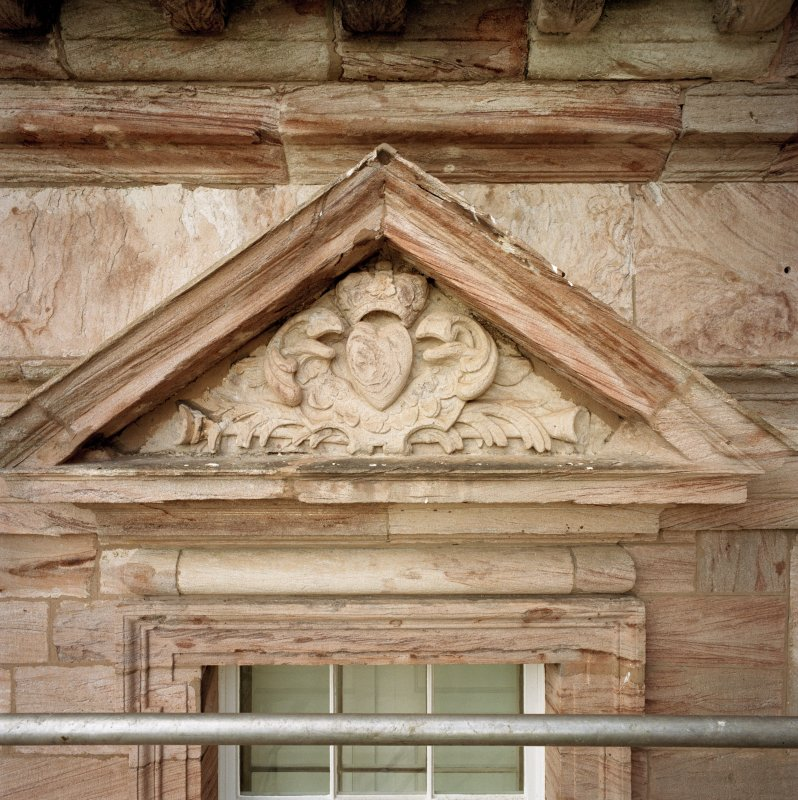 North facade, detail of tympanum. (no.10 on annotated print)