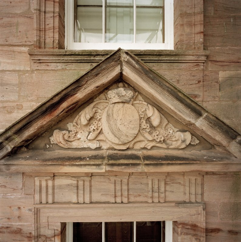 North facade, detail of tympanum. (no.11 on annotated print)
