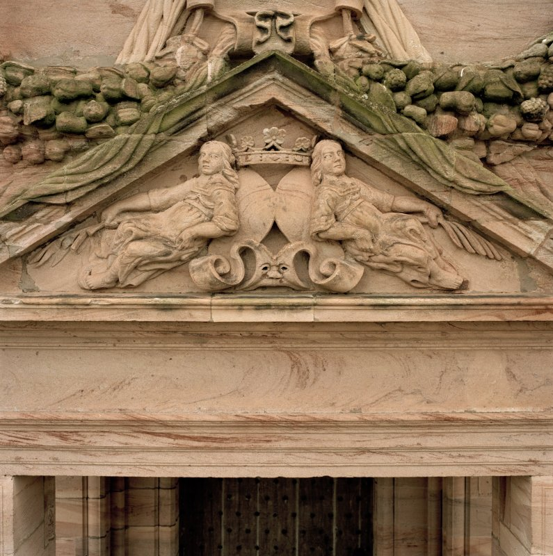 North facade, detail of tympanum. (no.15 on annotated print)