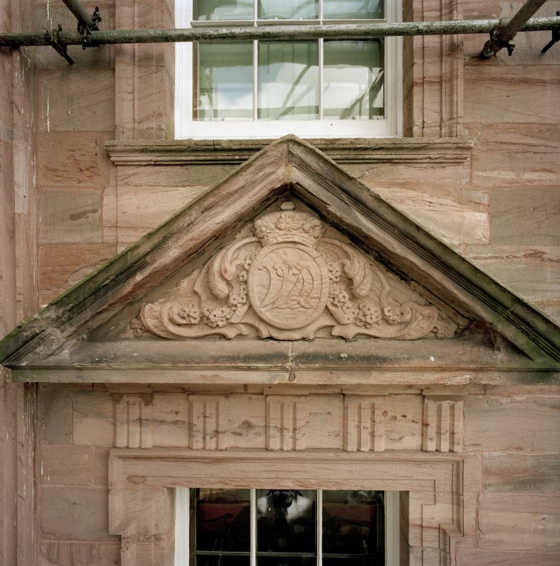 North facade, detail of tympanum. (no.19 on annotated print)