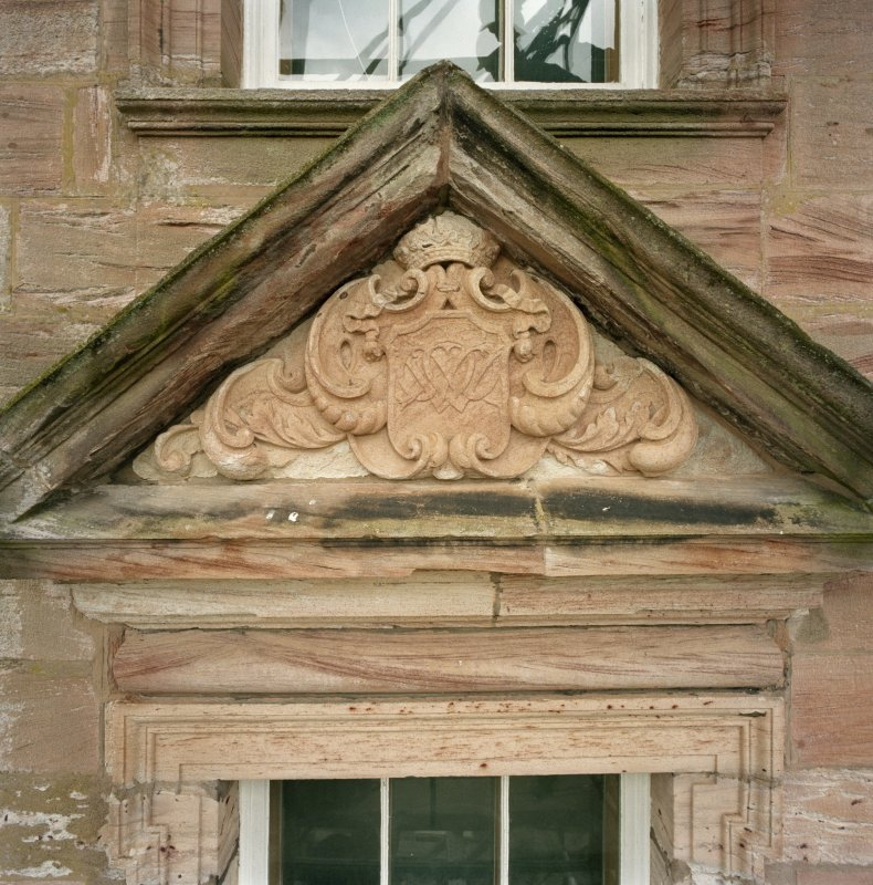 North facade, detail of tympanum. (no.27 on annotated print)