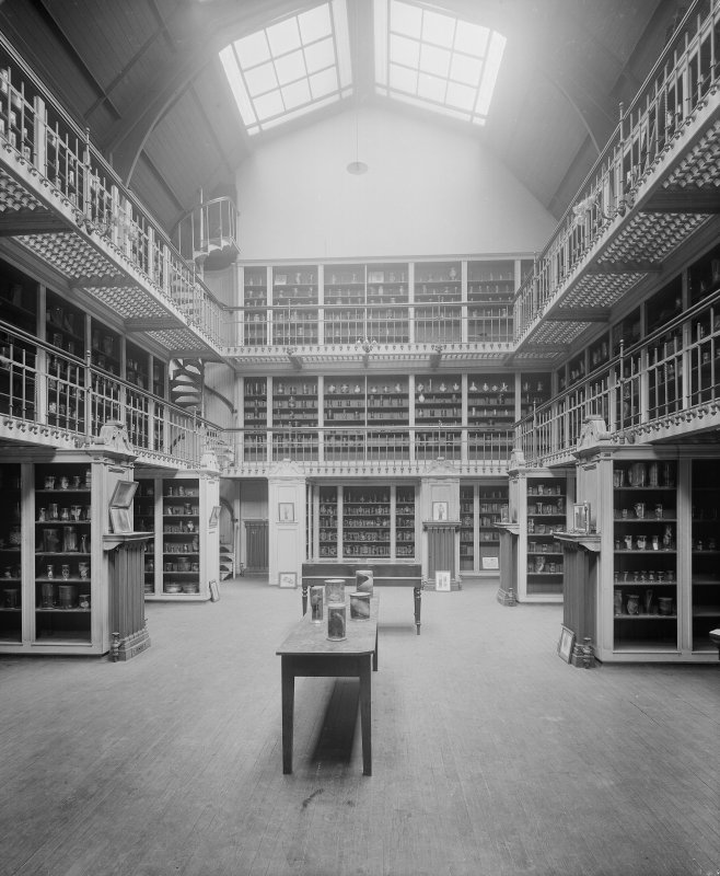 View of an unidentified medical specimen museum, possibly at Glasgow University.
