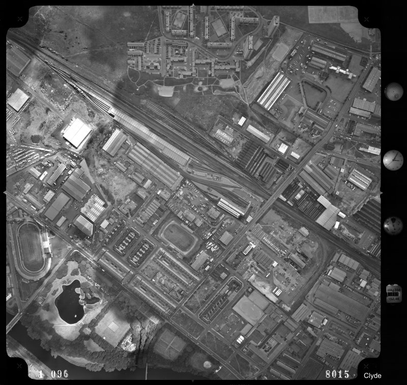 Vertical aerial view centred on Polmadie Motive Power Depot (new).