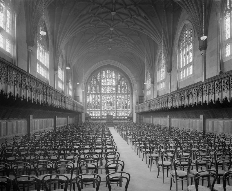 Interior of Marischal College - view of chapel/assembly hall