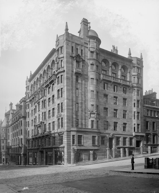 View of Clerical Medical & General life Assurance Society, West George Street, Glasgow.   Since demolished.
