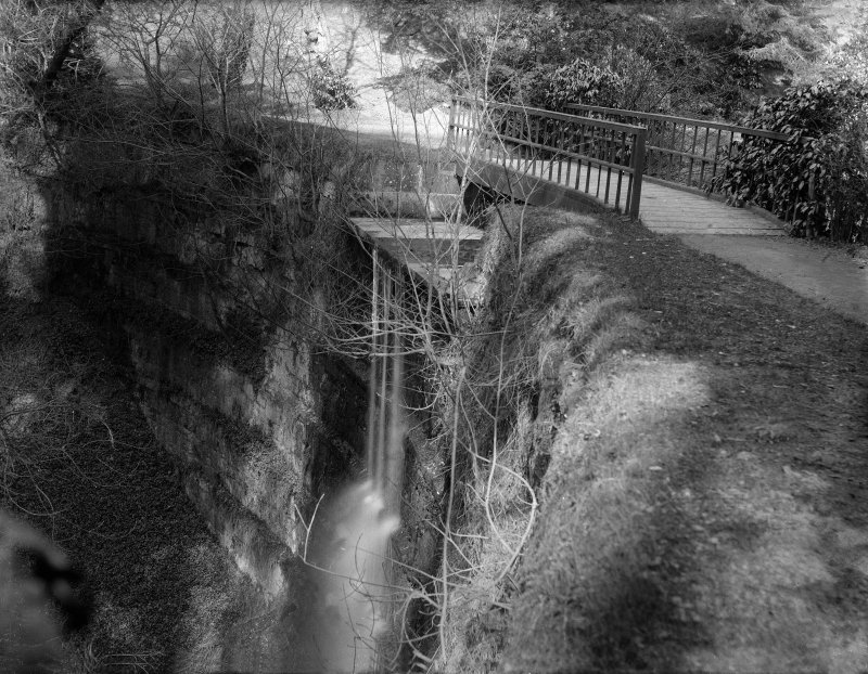 View of waterfall in Minto Glen