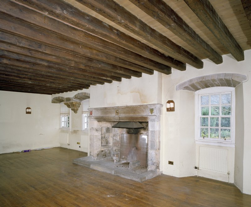 Interior. Ground Floor Main Hall view of fireplace