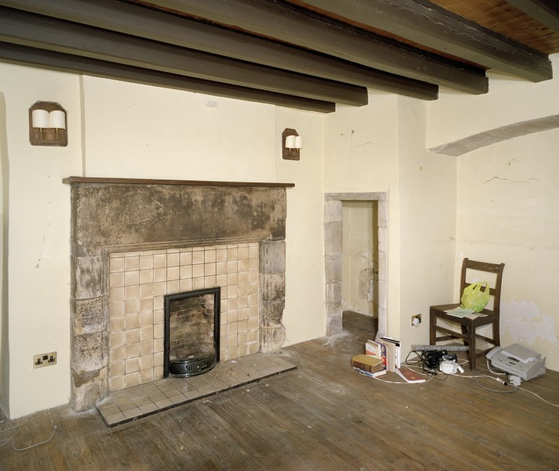 Interior. Ground Floor North East roomdetail of fireplace and recess