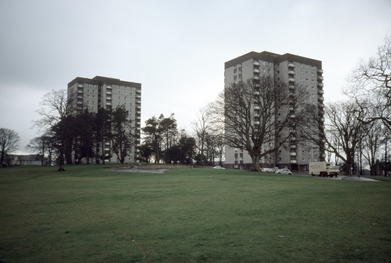 Falkirk, Glenfuir Estate: View of two 15-storey blocks.
