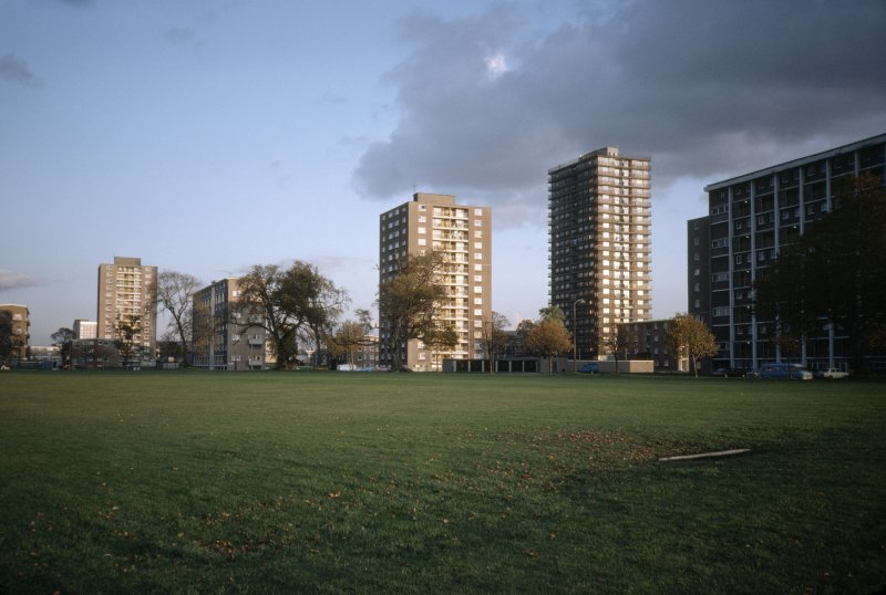 Edinburgh, Muirhouse: General view of multi-storey blocks.