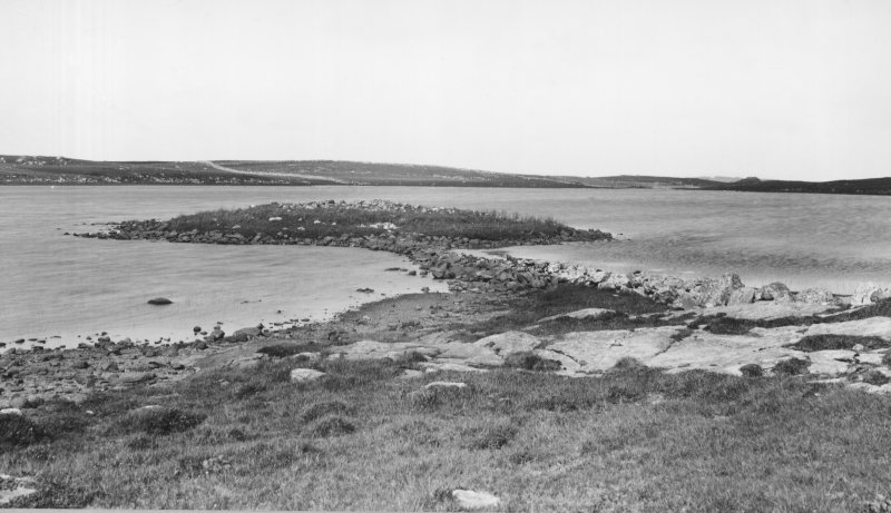 North Uist, Dun Olavat. General view from SW.