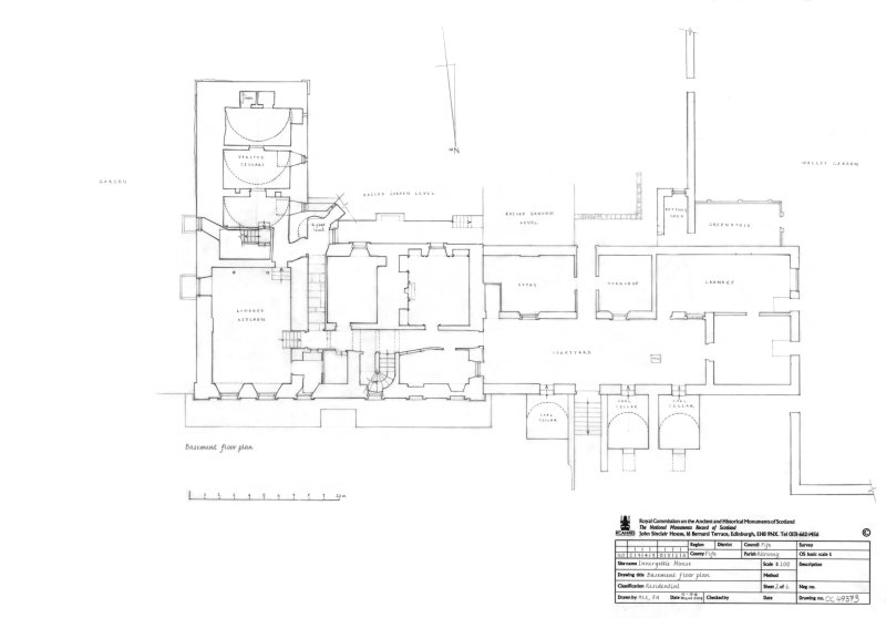 Innergellie House - Basement floor plan.