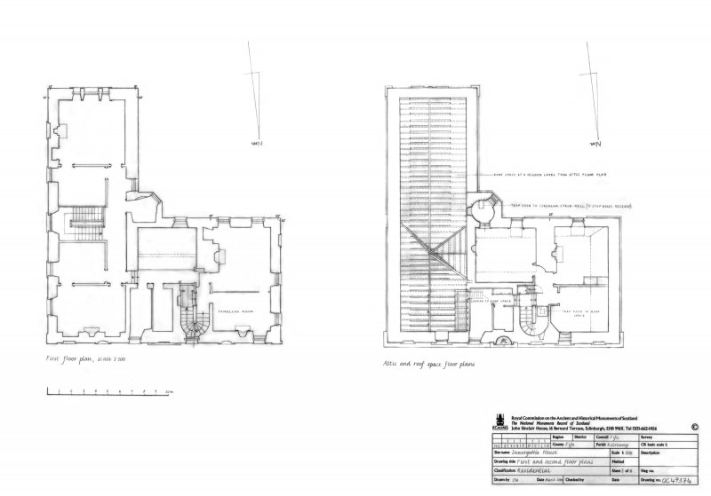Innergellie House - First and second floor plans.