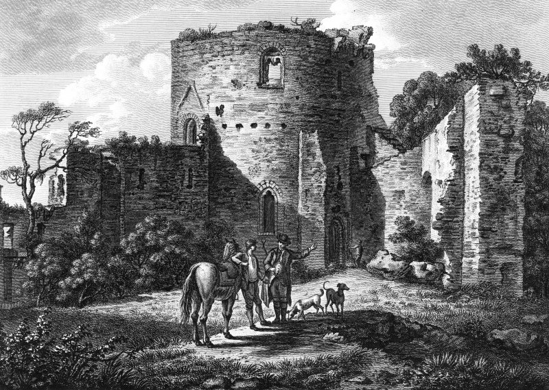 Engraving showing view of castle.  Titled: 'Inside of Bothwell Castle'. 'Published as the Act directs, by G Kearsly in Fleet Street Dec 1 1778'.