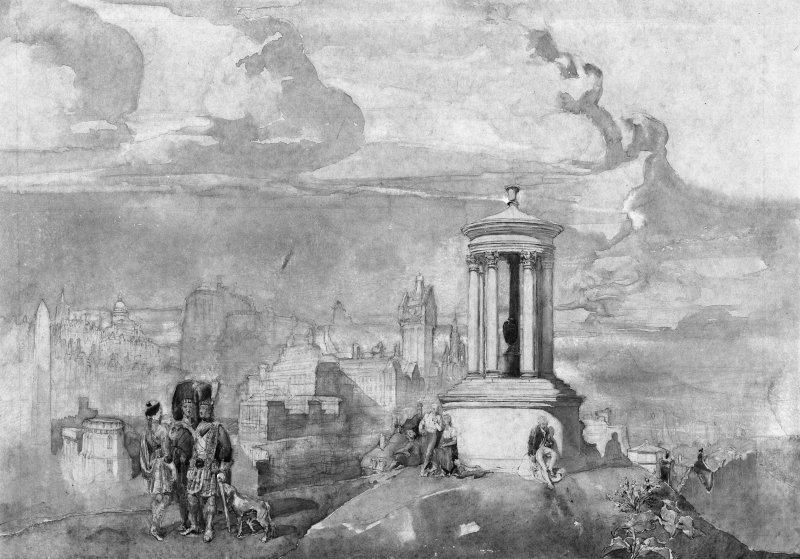 Fantasy with Dugald Stewart Monument