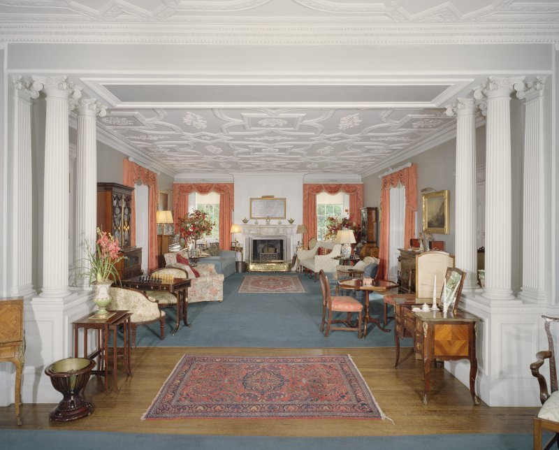 Interior. 1st floor. Drawing room. View from N