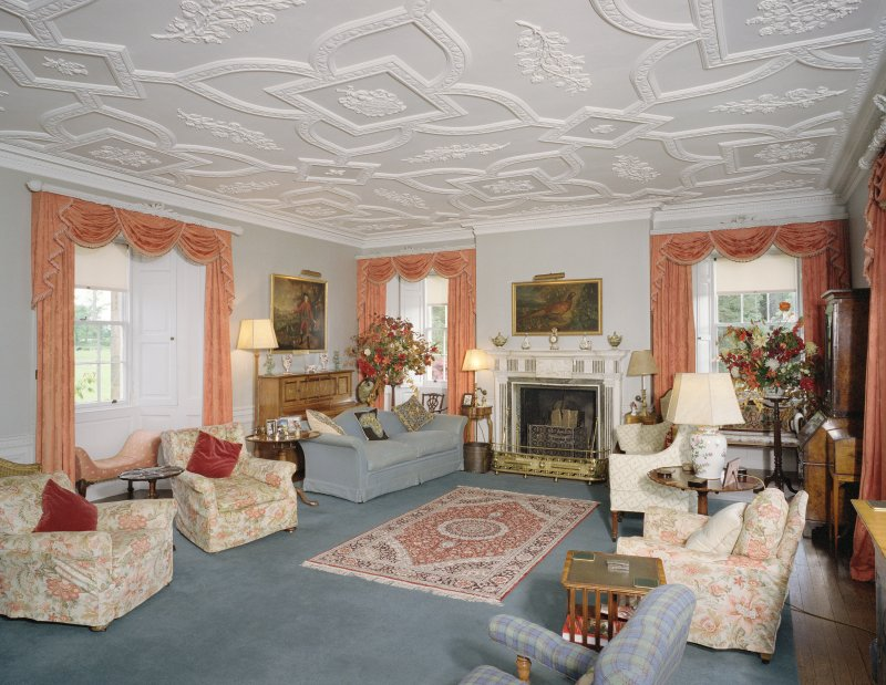 Interior. 1st floor. Drawing room. S End. View from NW