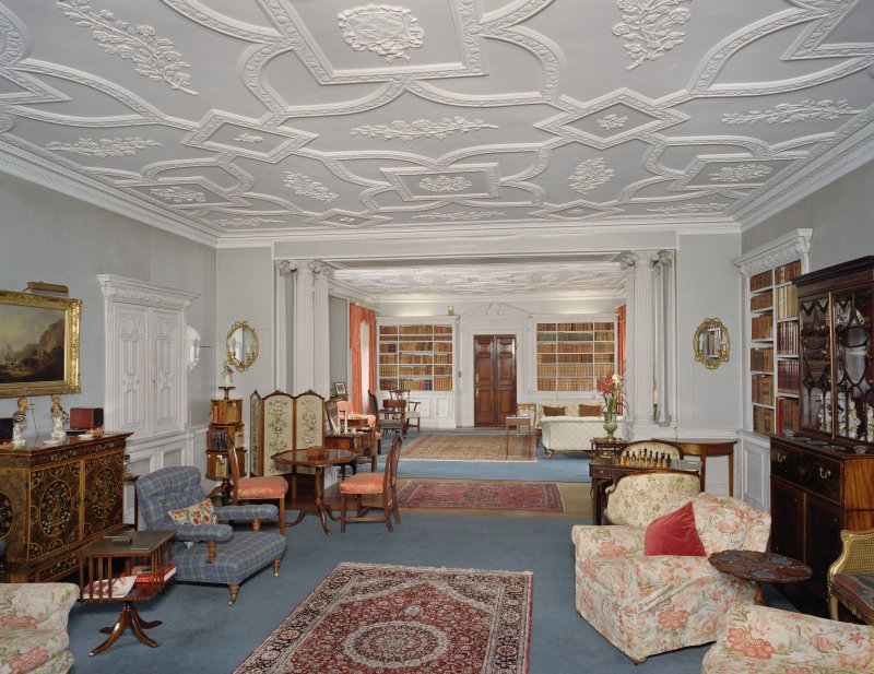 Interior. 1st floor. Drawing room. View from S