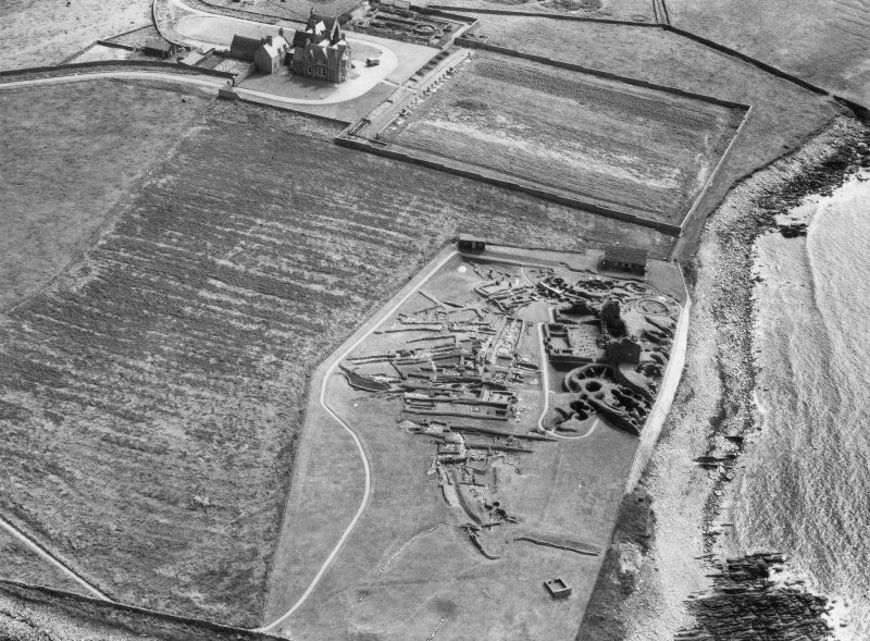 Oblique aerial view from north-west.