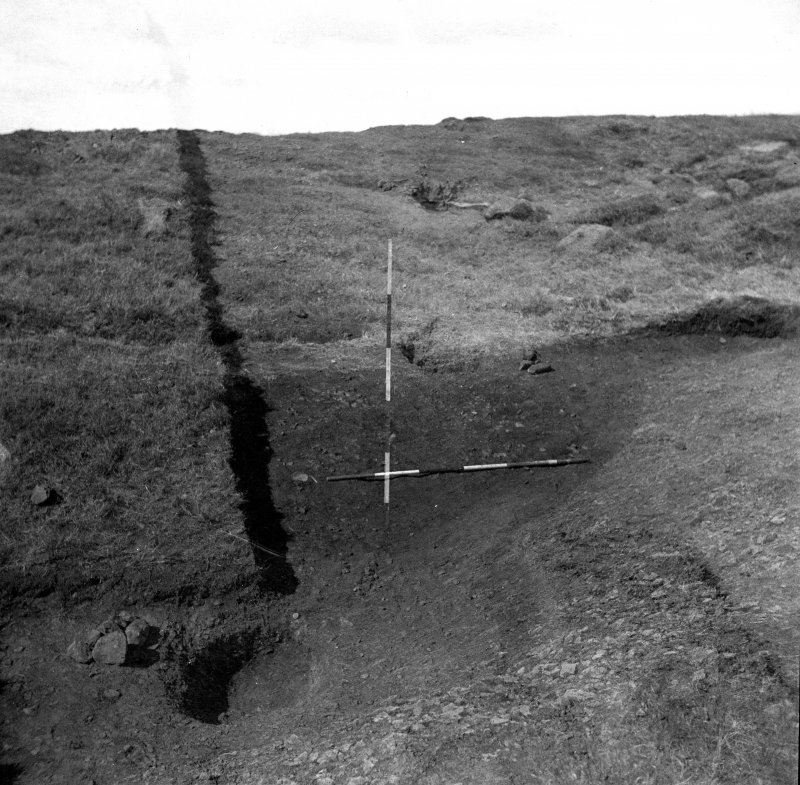 Excavation photograph by Professor Stuart Piggott showing view of pit.