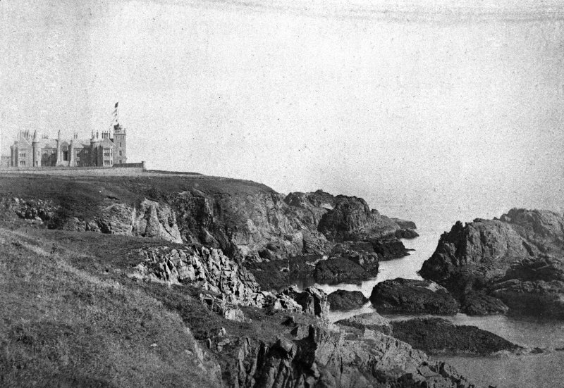 Modern copy of historic photograph showing distant view.
