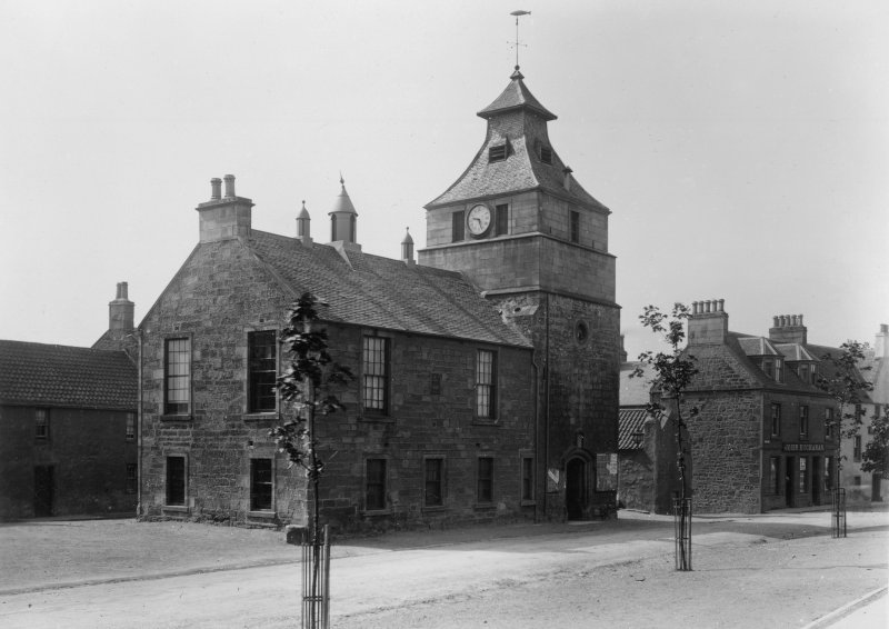 General view.  Titled: 'Town Hall, Crail, Fifeshire'.