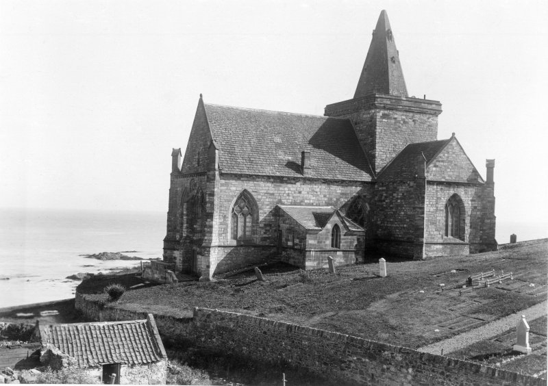 General view of church.  Titled: 'St Monan's Church, Fifeshire'.
