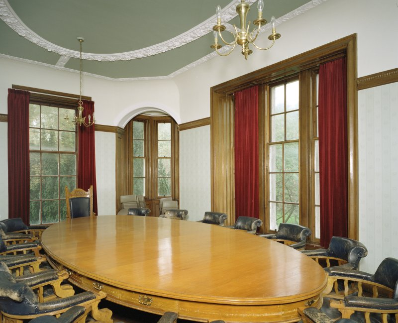 Interior. First floor view of board room