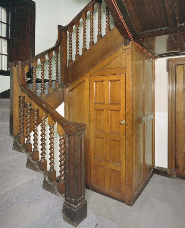 Interior. Ground floor view of main staircase