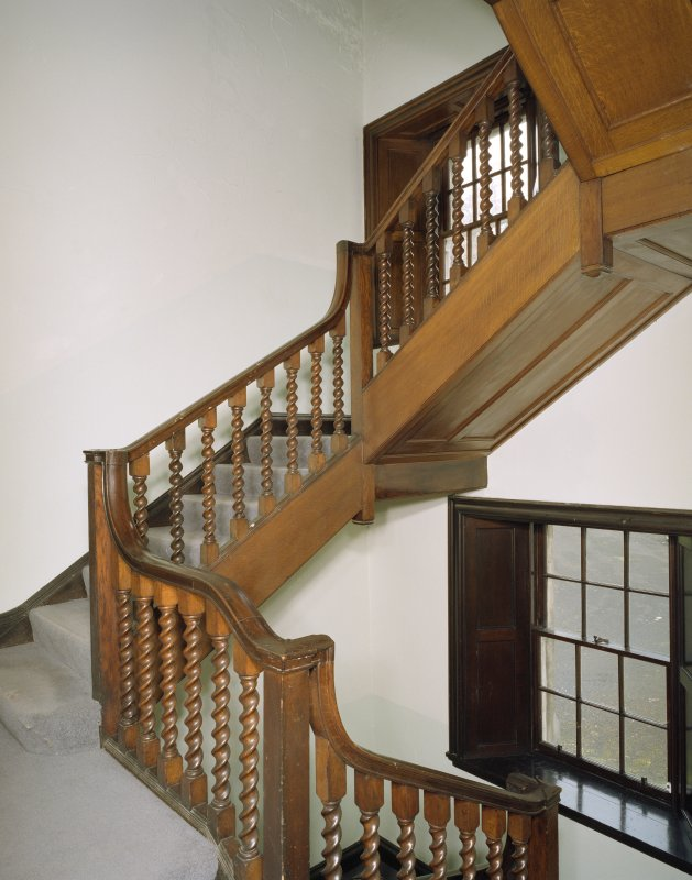 Interior. First floor view of main staircase