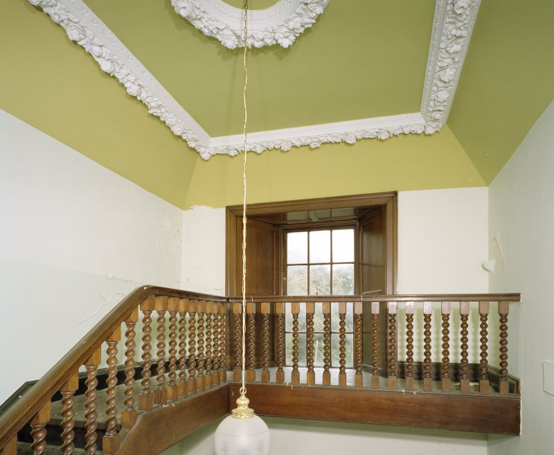 Interior. Second floor view of main staircase