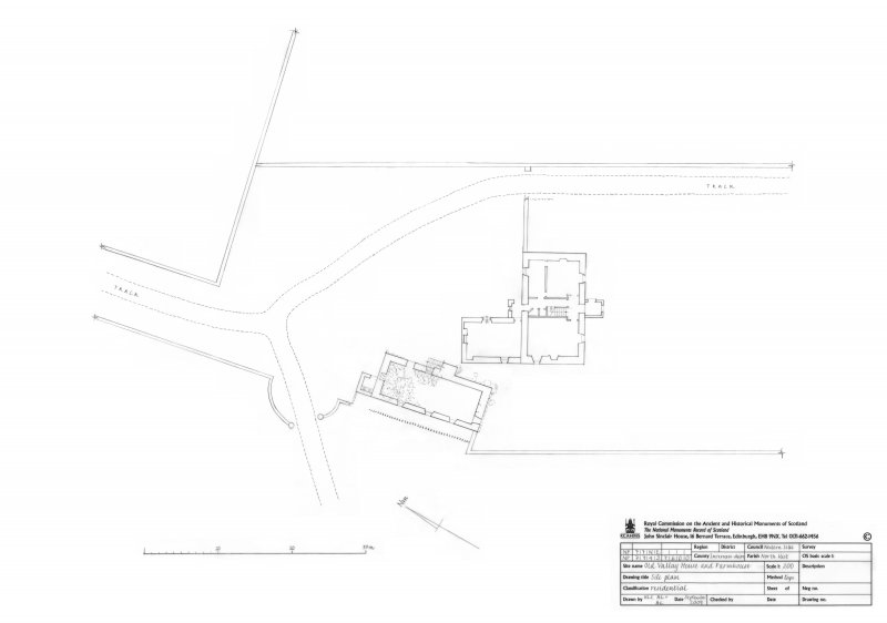 Old Vallay House (Tacksman's House) and Farmhouse (Chamberlain's House) site plan