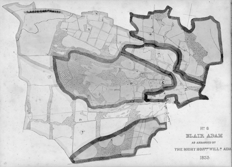 Blair Adam. Phoptographic copy of plan of Estate in 1833.