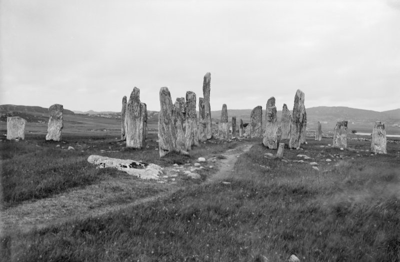 Callanish, stone circle and rows, from south.