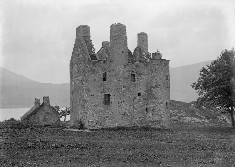 View of Dunderave Castle from NE before restoration.