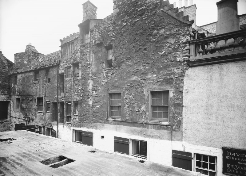 View of East side of Acheson House, also showing 142 Canongate