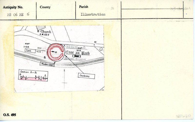 Plan and section, copied from OS '495' card