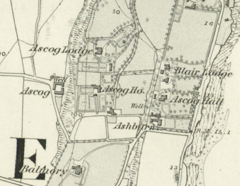 Extract of the OS 1st edition map, 1869.