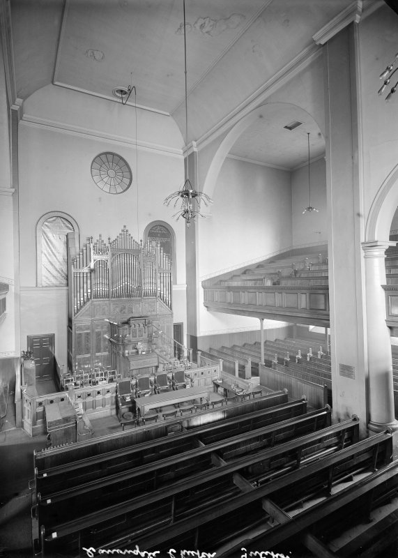 Interior view of Canongate Church from South