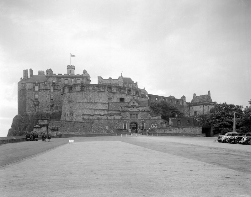 Edinburgh Castle, General view from the Esplanade