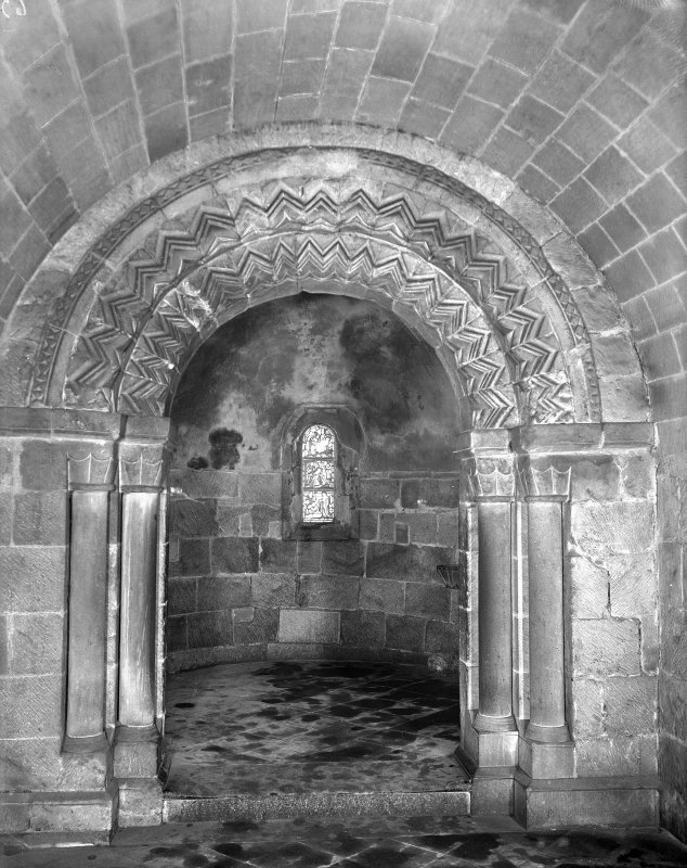 Interior view of apse and chancel arch